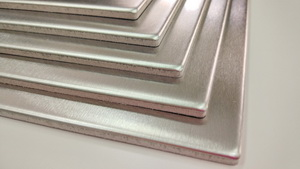 Composite panels of stainless steel