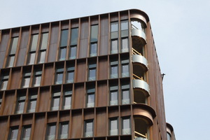 Copper facade