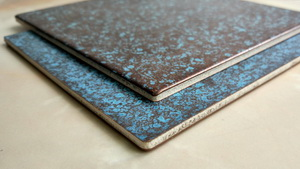 Oxidized copper (patina)