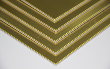 Brass composite panels